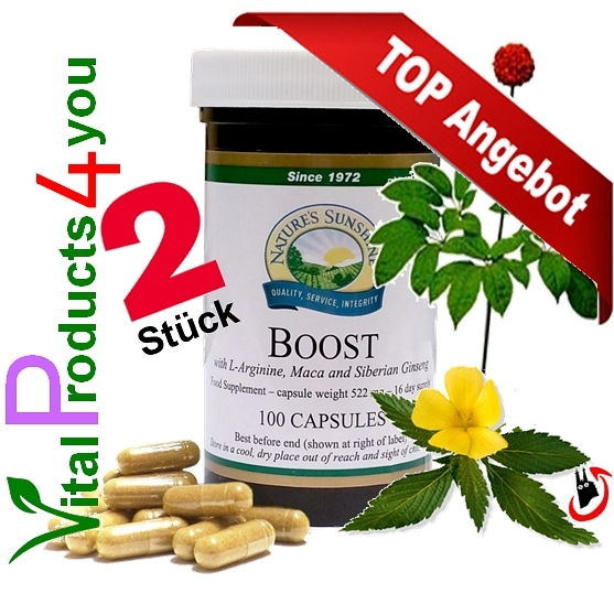 Boost mit L-Arginin 2 Stück Art.-Nr. 2098 - Natures Sunshine Products (NSP)