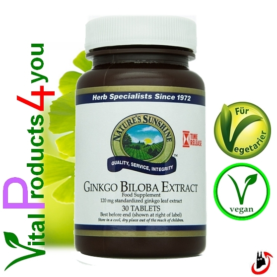 Ginkgo Biloba Extract Art.-Nr. 898 - Natures Sunshine Products (NSP)