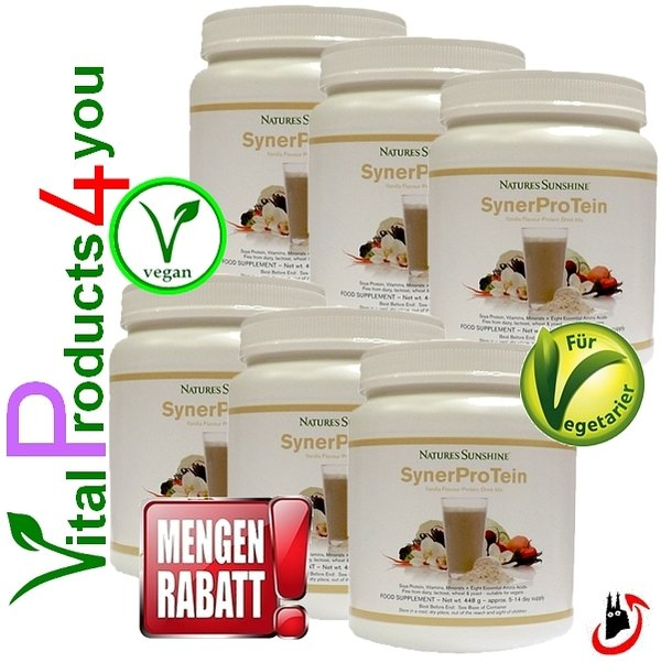 SynerProTein Original (6 Dosen) Art.-Nr. 9784 - Natures Sunshine Products (NSP)